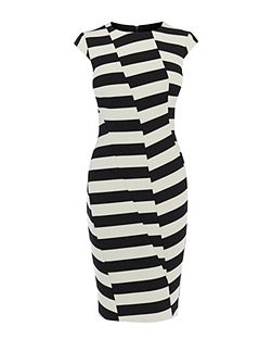 Block-Stripe Pencil Dress