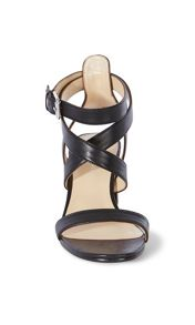 Karen Millen Leather Block Heel Sandal