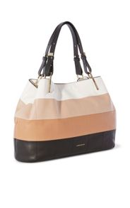 Karen Millen Leather Panelled Tote Bag