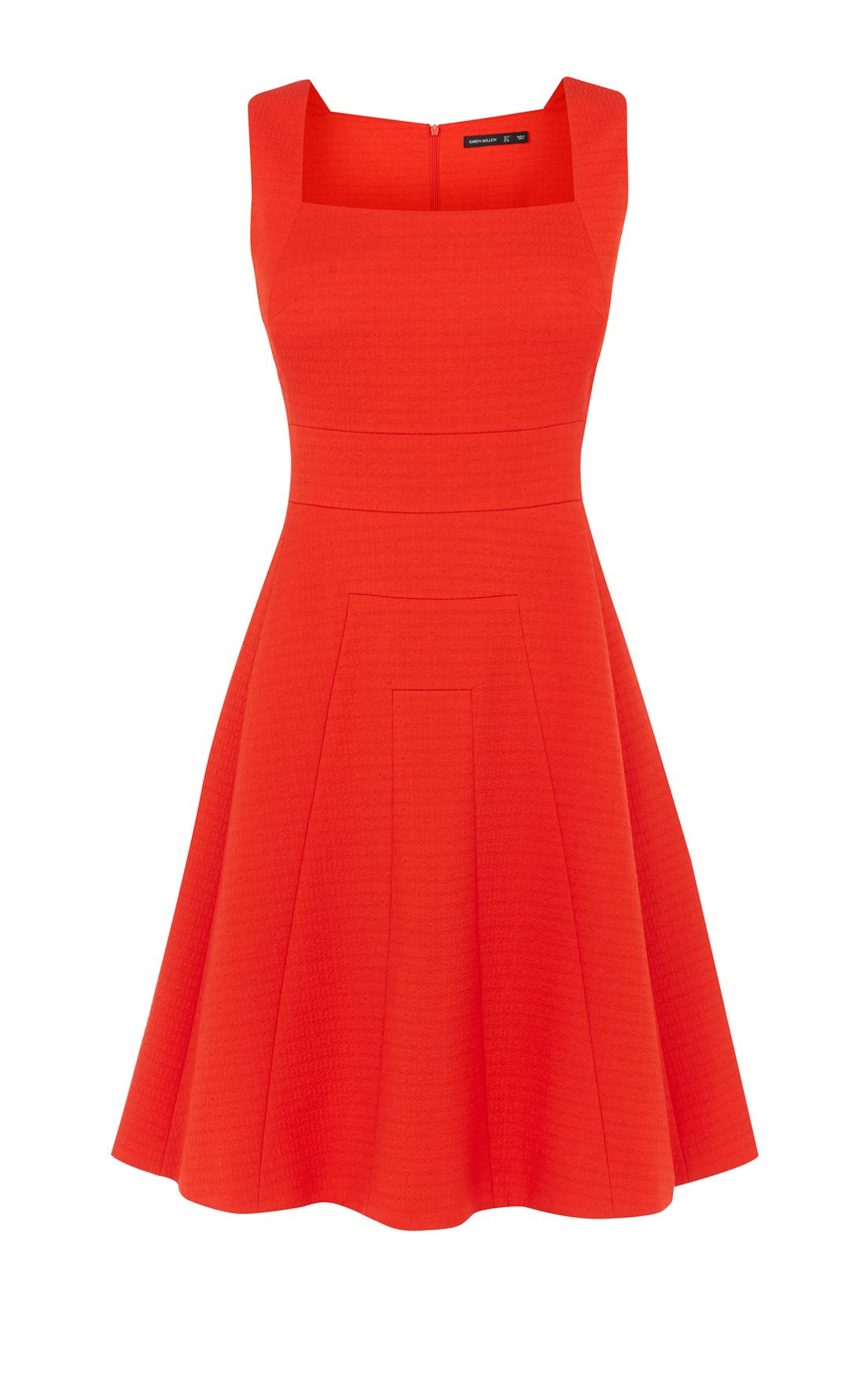 Karen Millen Full-Skirted Mini Dress, Orange