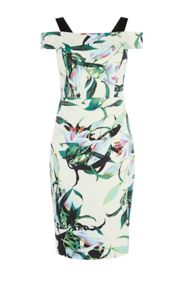 Karen Millen Lily Print Pencil Dress