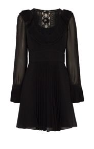 Karen Millen Lace And Ruffle Boho Dress