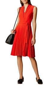 Karen Millen Shawl Collar Pleated Dress