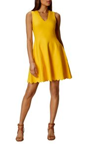 Karen Millen Jacquard Fit And Flare Dress