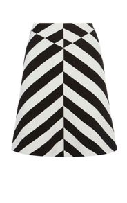 Karen Millen Block Stripe Skirt