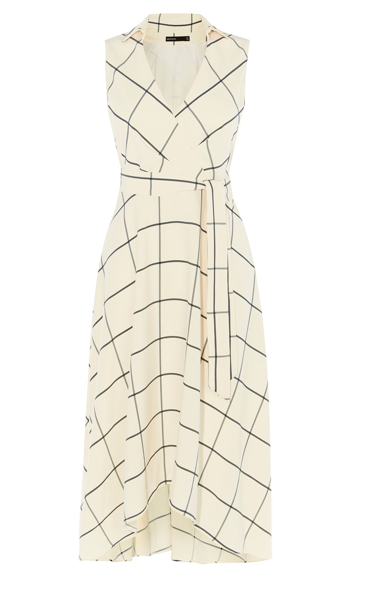 Karen Millen Midi Wrap Dress, Multi-Coloured