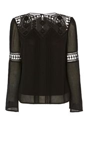 Karen Millen Lace Yoke Top