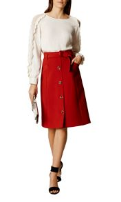 Karen Millen Button Down Midi Skirt