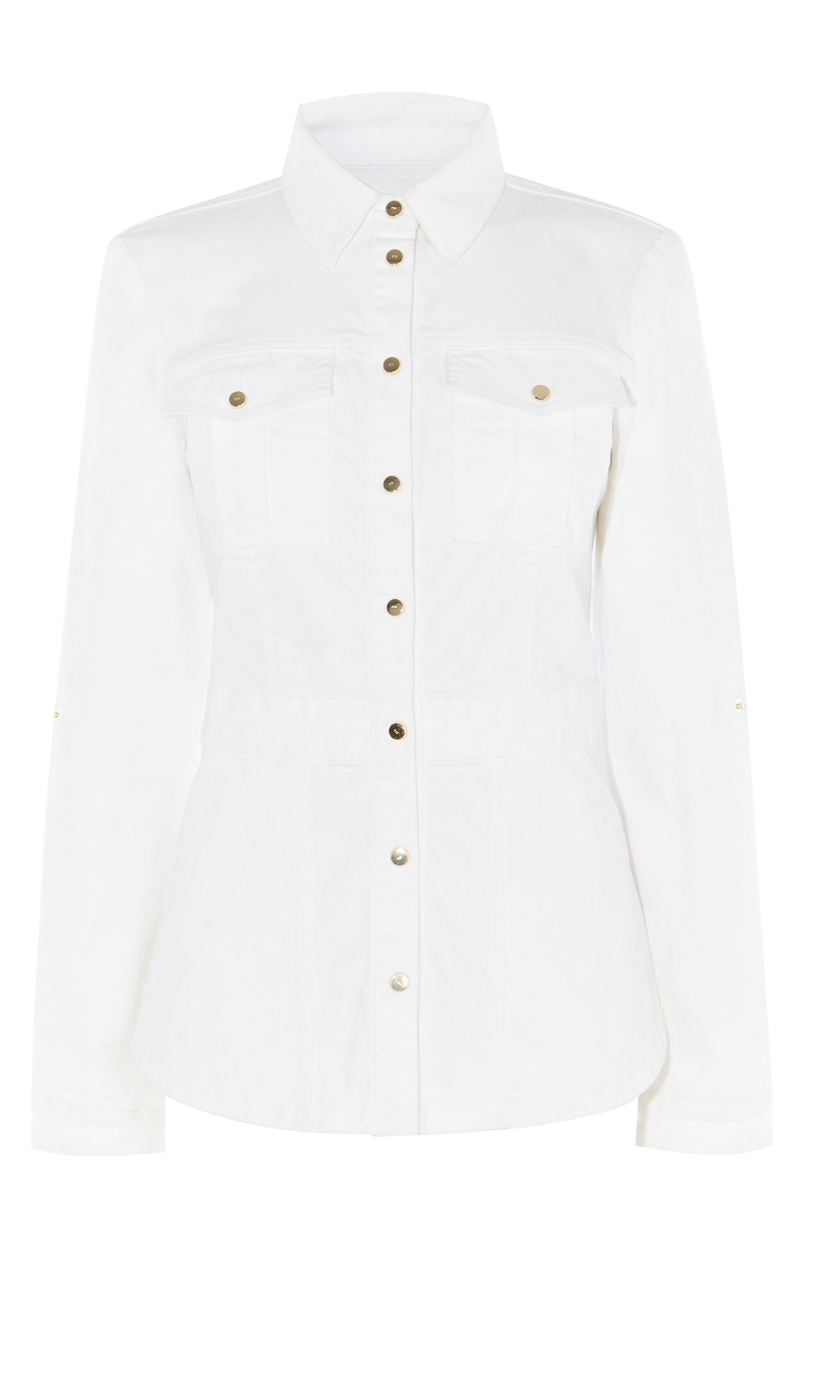 Karen Millen White Denim Jacket, White