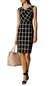 Karen Millen Windowpane Check Dress