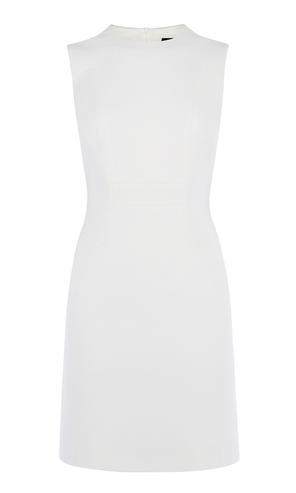 Karen Millen Textured Fitted Dress, White