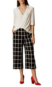 Karen Millen Windowpane Wide Legged Culottes