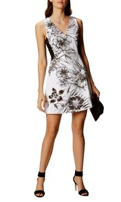 Karen Millen Botancial Print Cotton Dress
