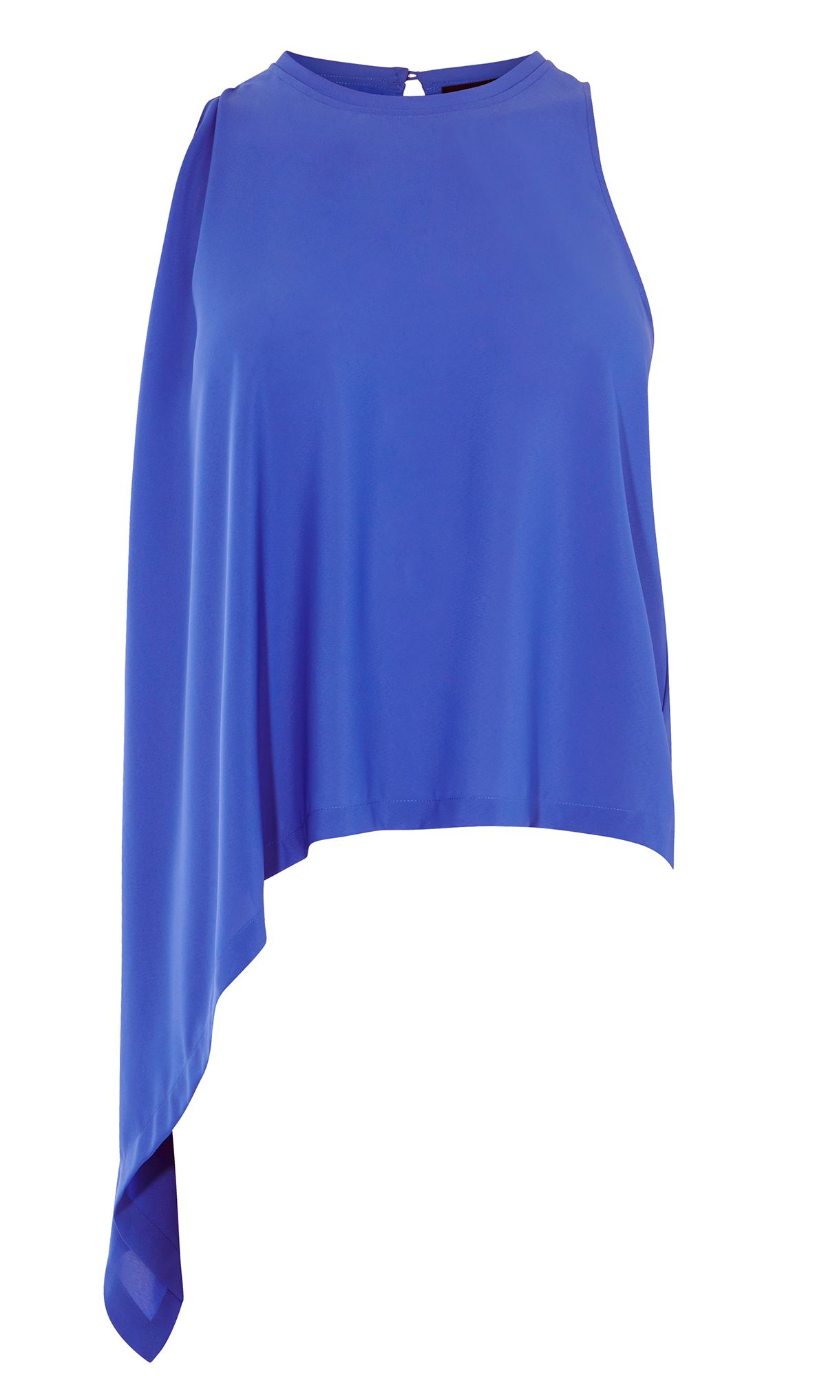 Karen Millen Knot Side Top, Blue