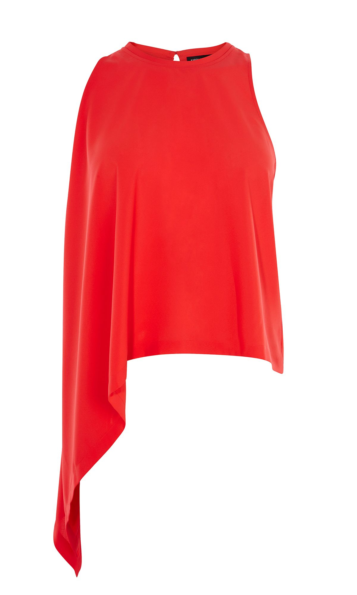 Karen Millen Knot Side Top, Red
