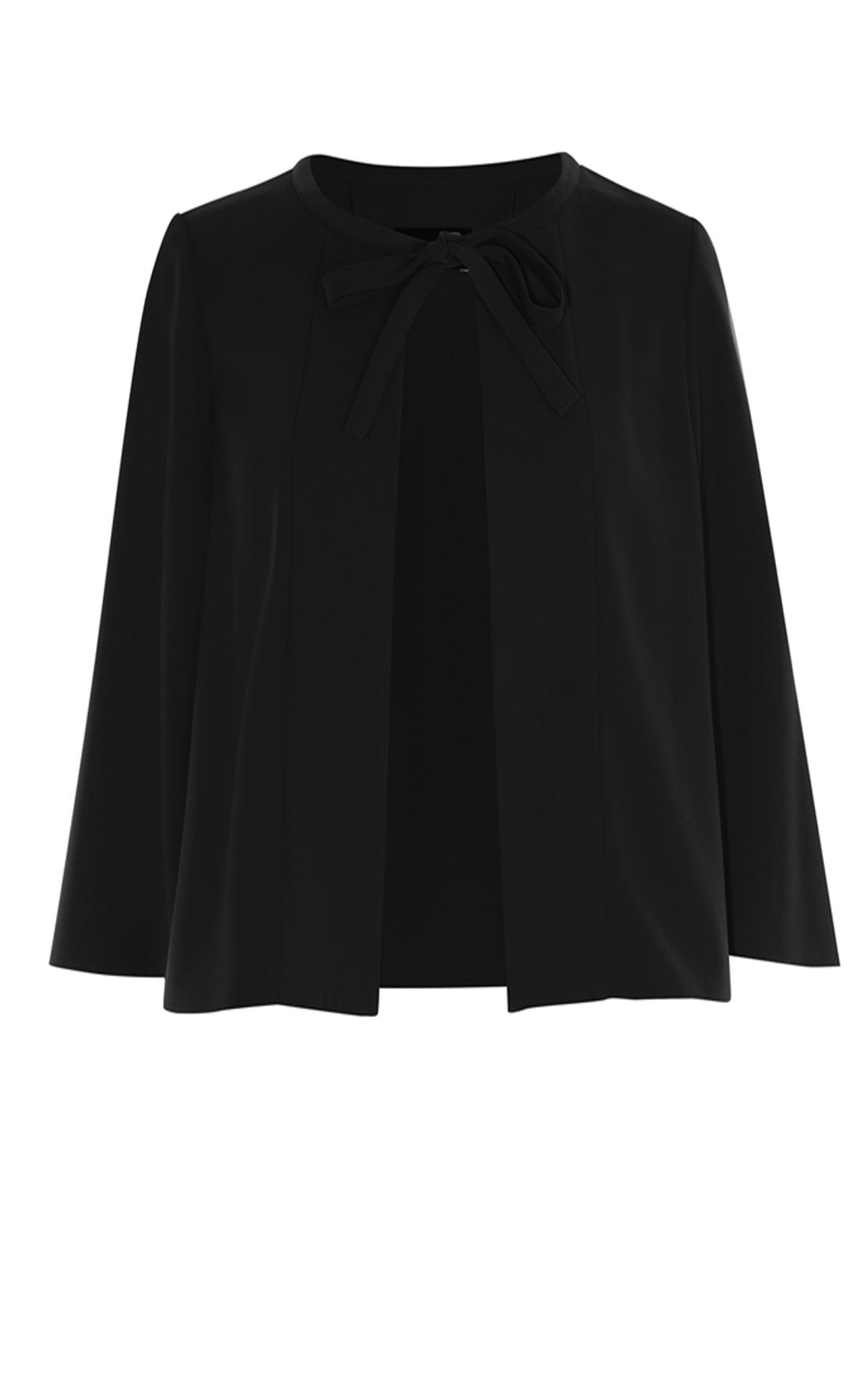 Karen Millen Crop Cape Jacket, Jet Black
