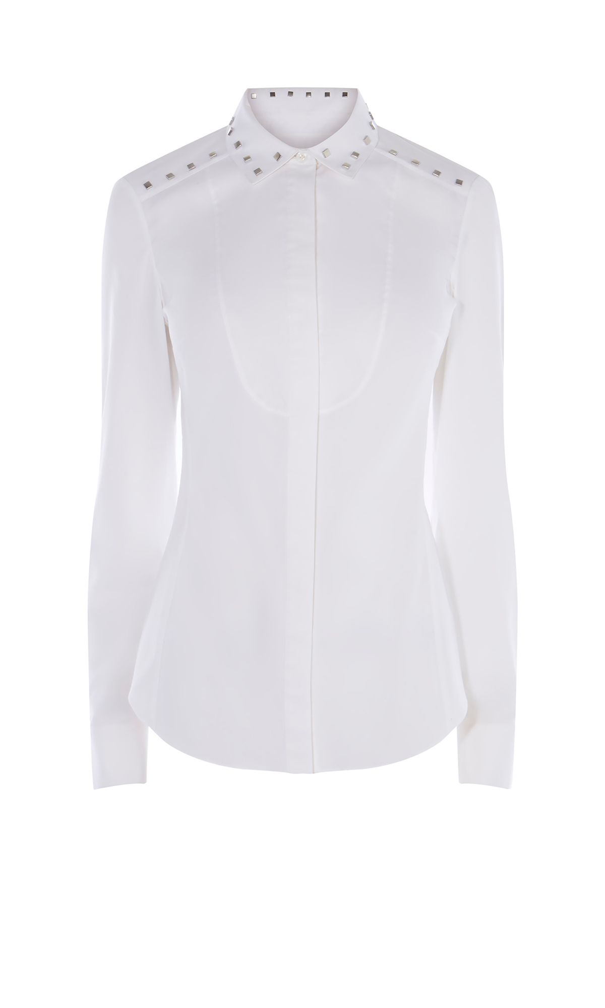 Karen Millen Studded Collar Shirt, White