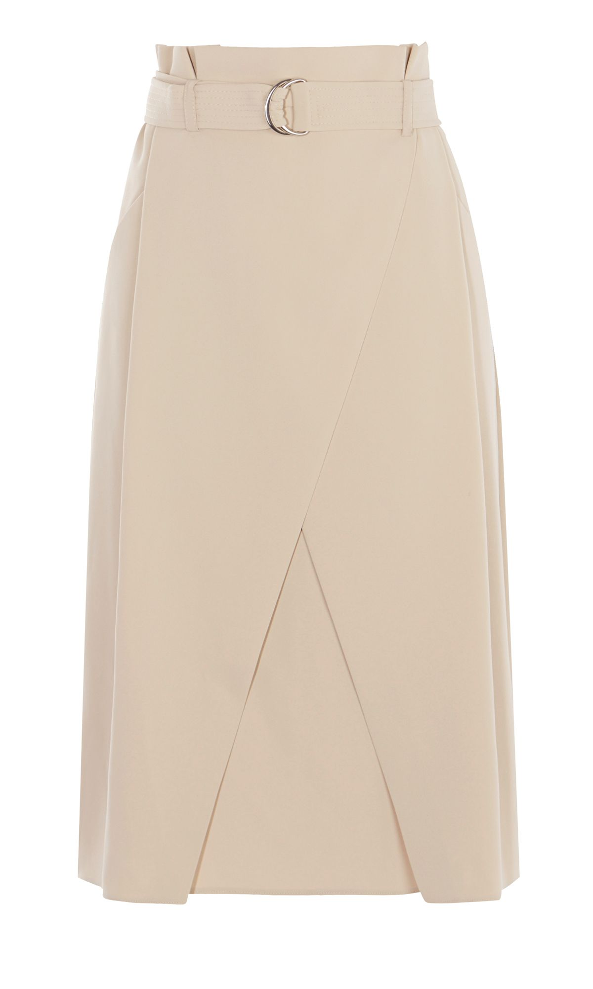 Karen Millen Neutral Wrap Skirt, Neutral