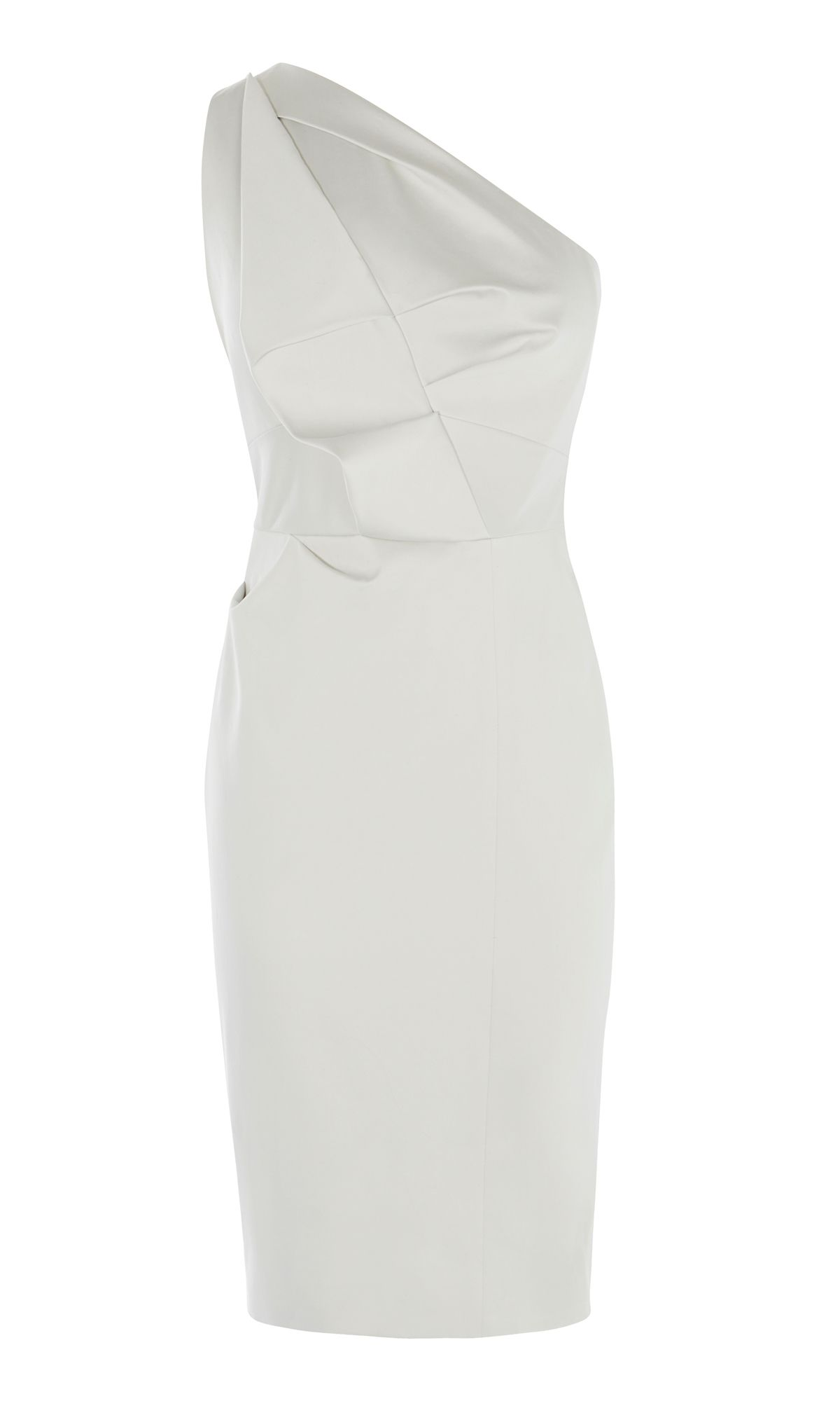 Karen Millen One-Shoulder Pencil Dress, Light Grey