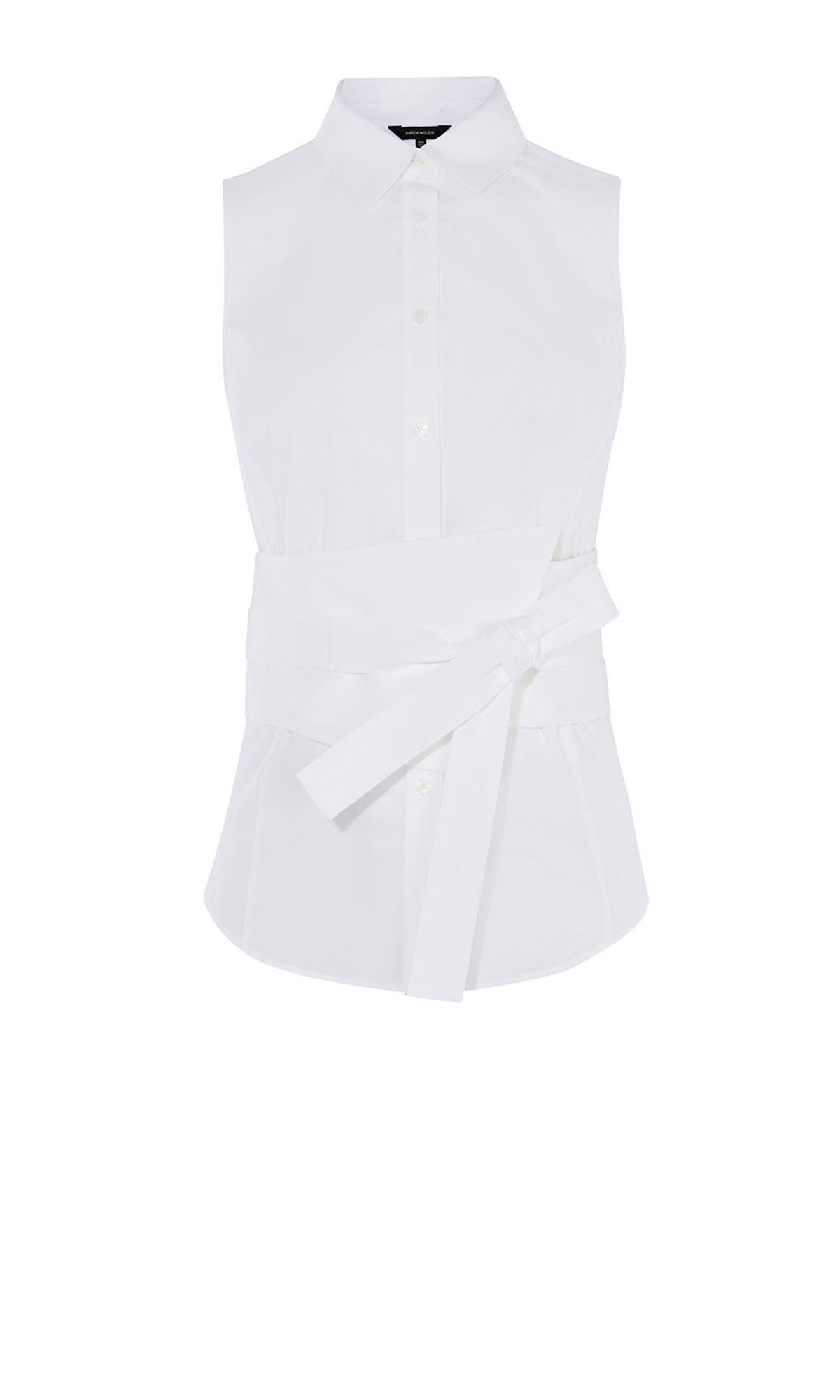Karen Millen White Deconstruct Shirt, White