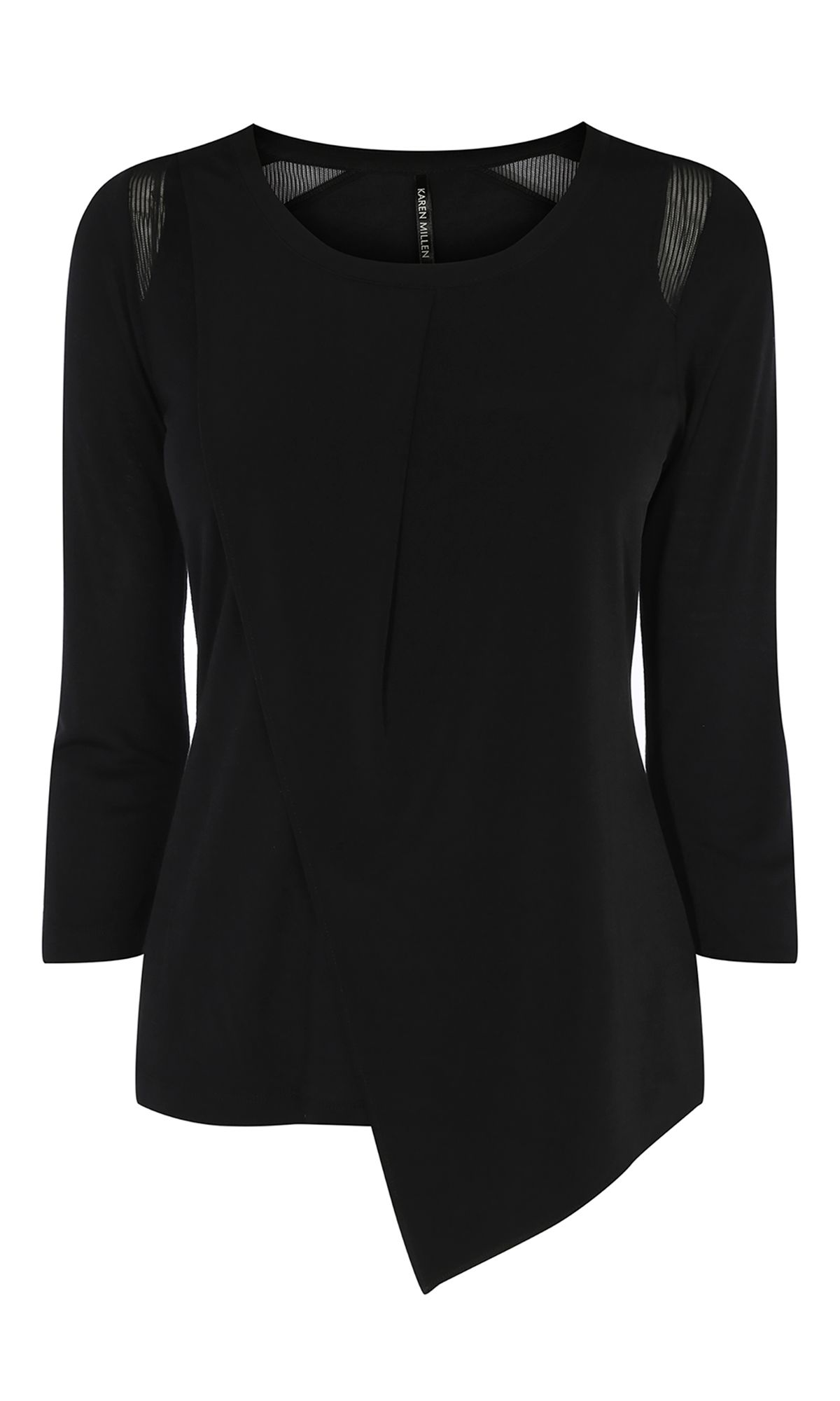 Karen Millen Layered Sleeveless Top, Black.
