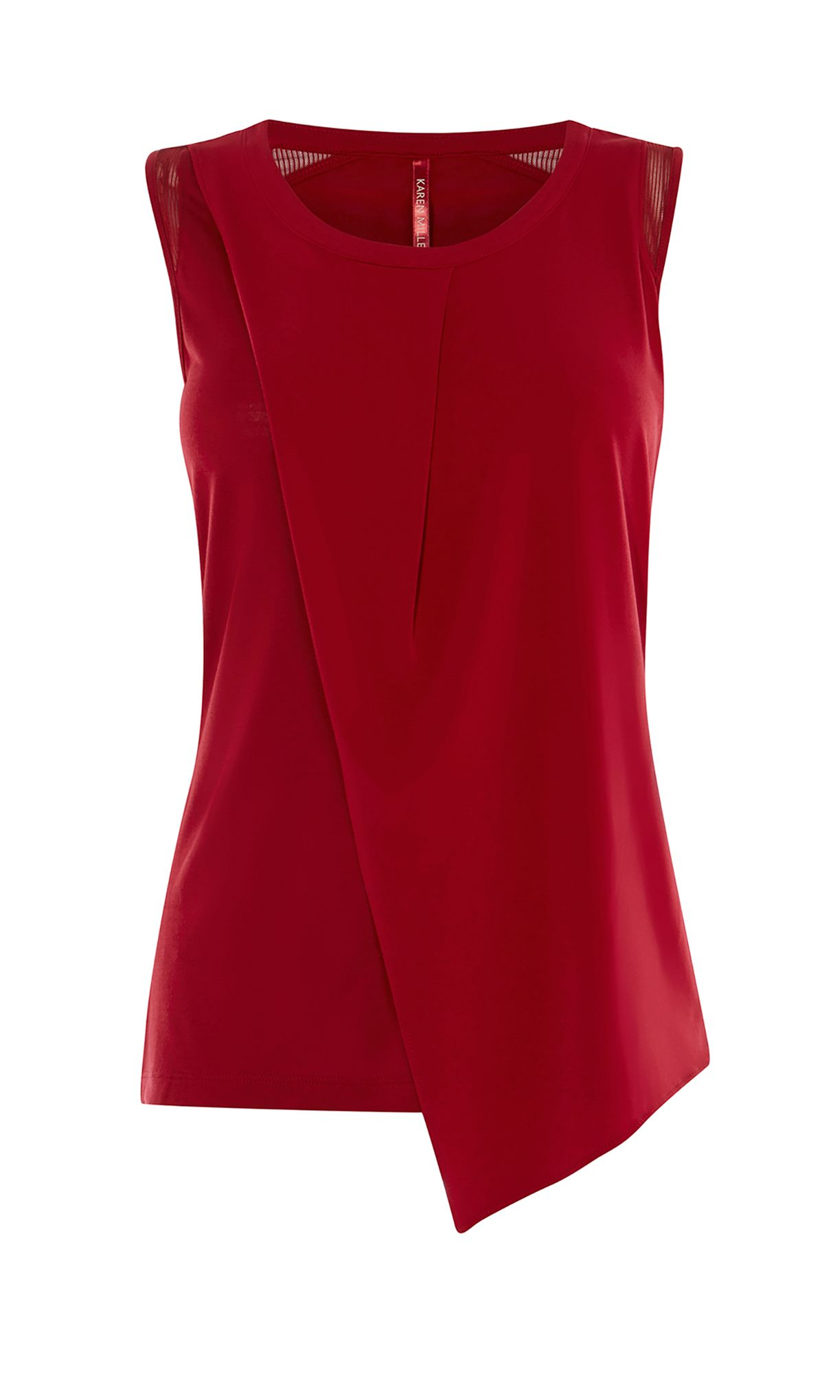 Karen Millen Layered Sleeveless Top, Red