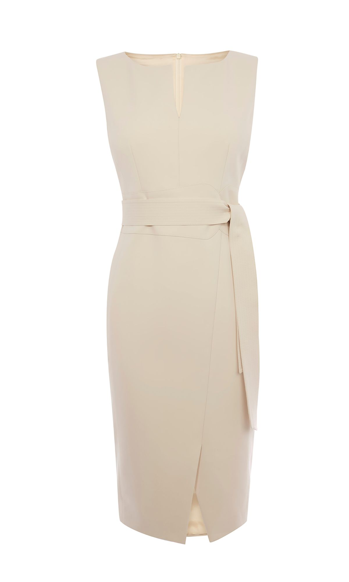 Karen Millen V-Neck Wrap Pencil Dress, White