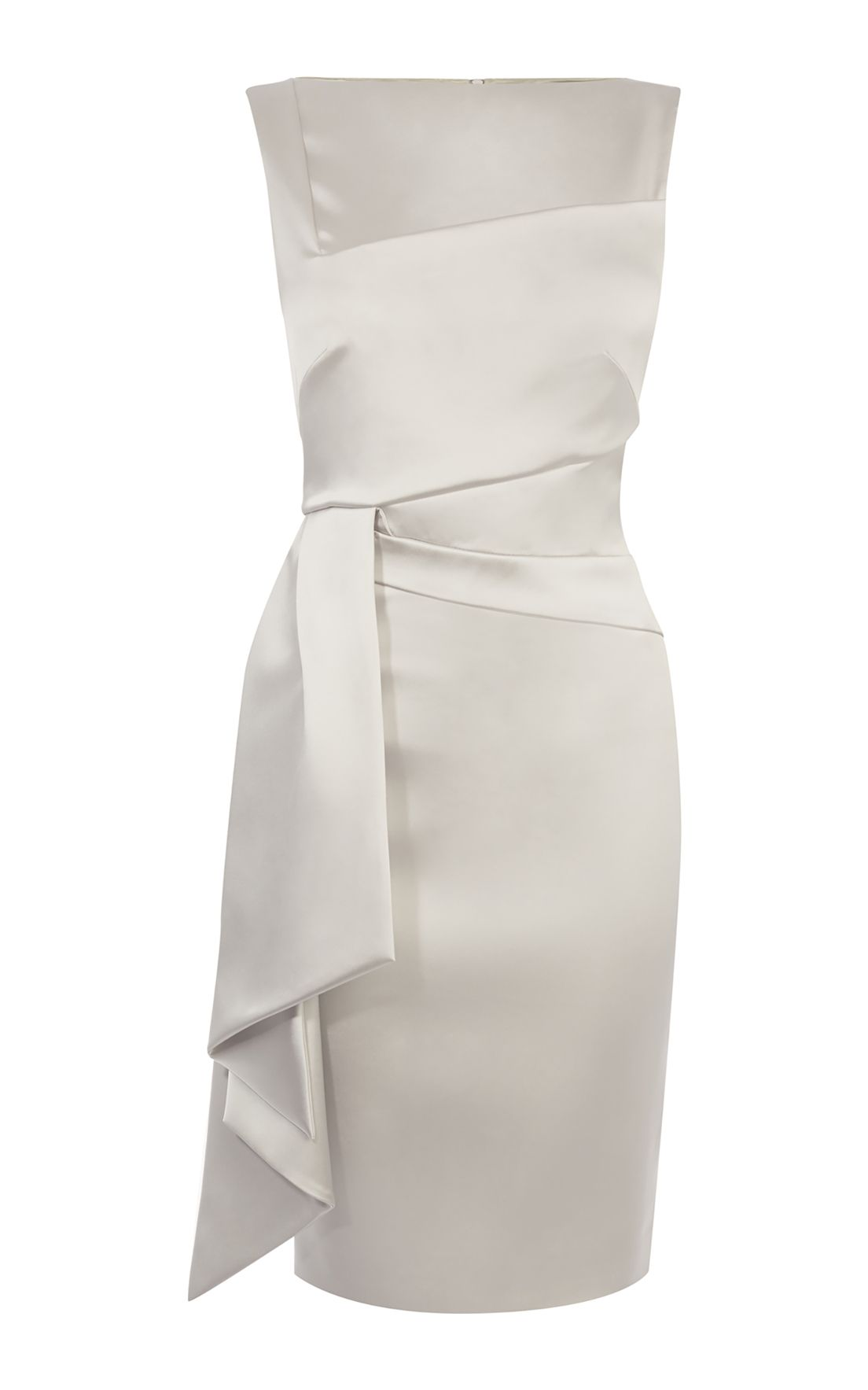 Karen Millen Satin Pencil Dress, Neutral