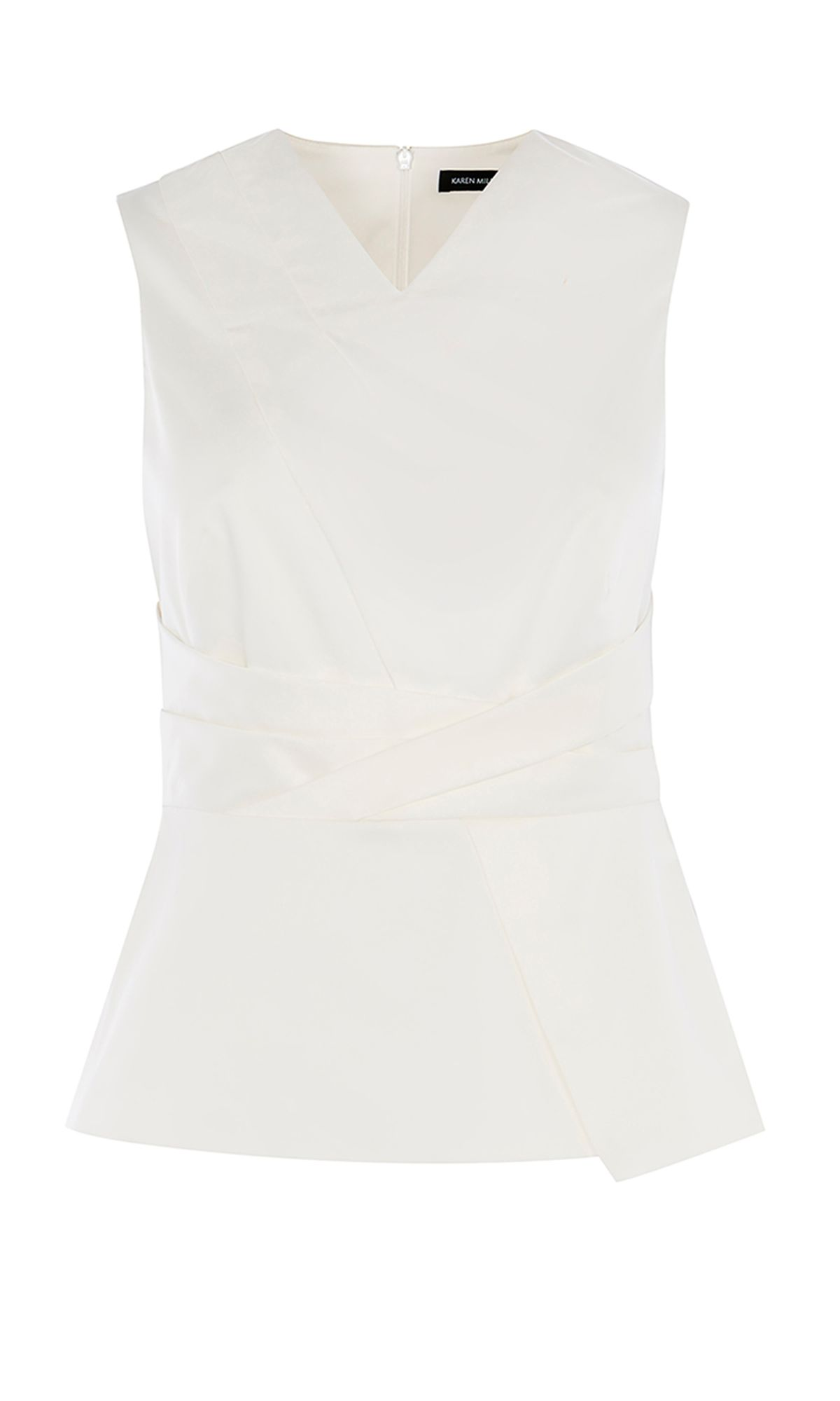 Karen Millen Origami Inspired Top, White