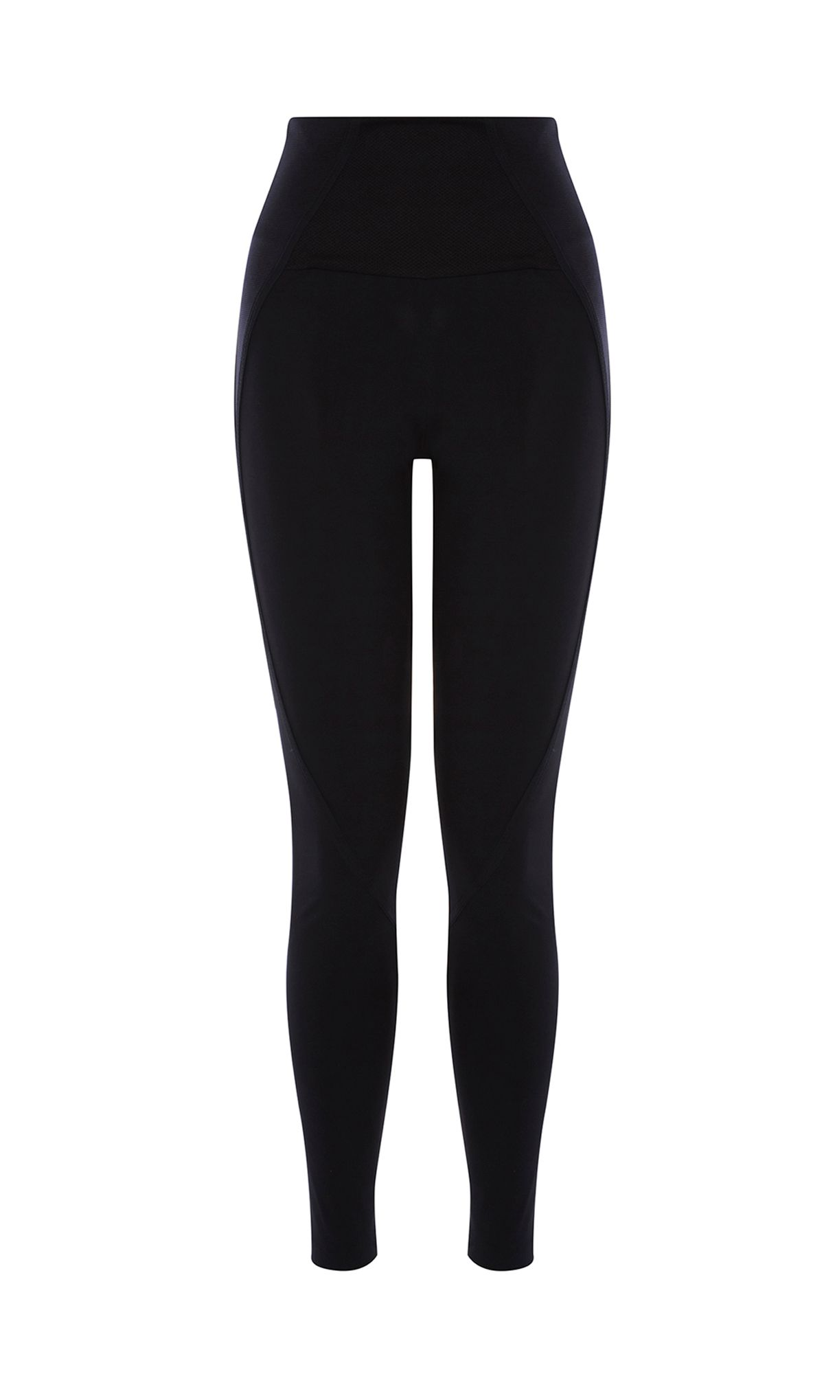 Karen Millen Panelled Elastic Leggings, Black