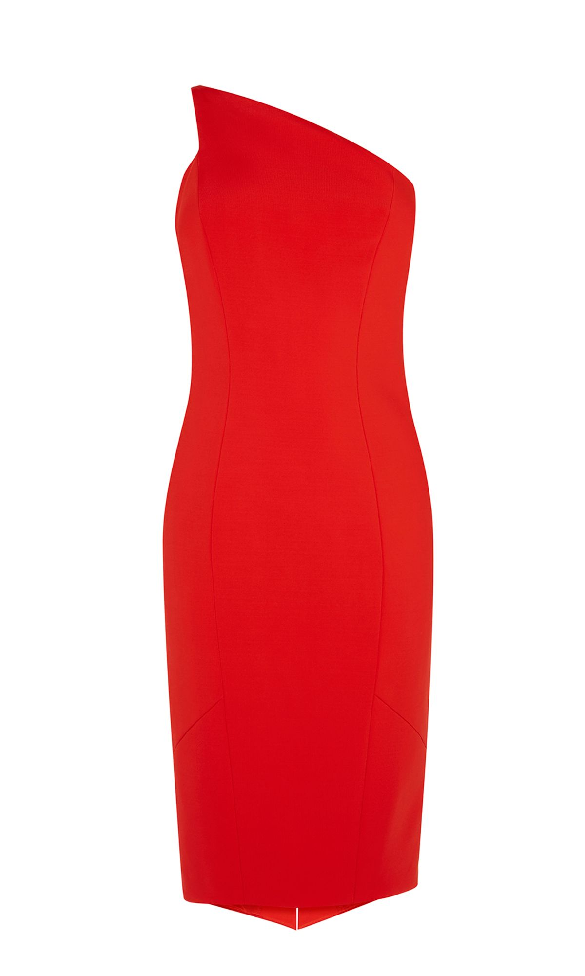 Karen Millen One-Shoulder Pencil Dress, Red