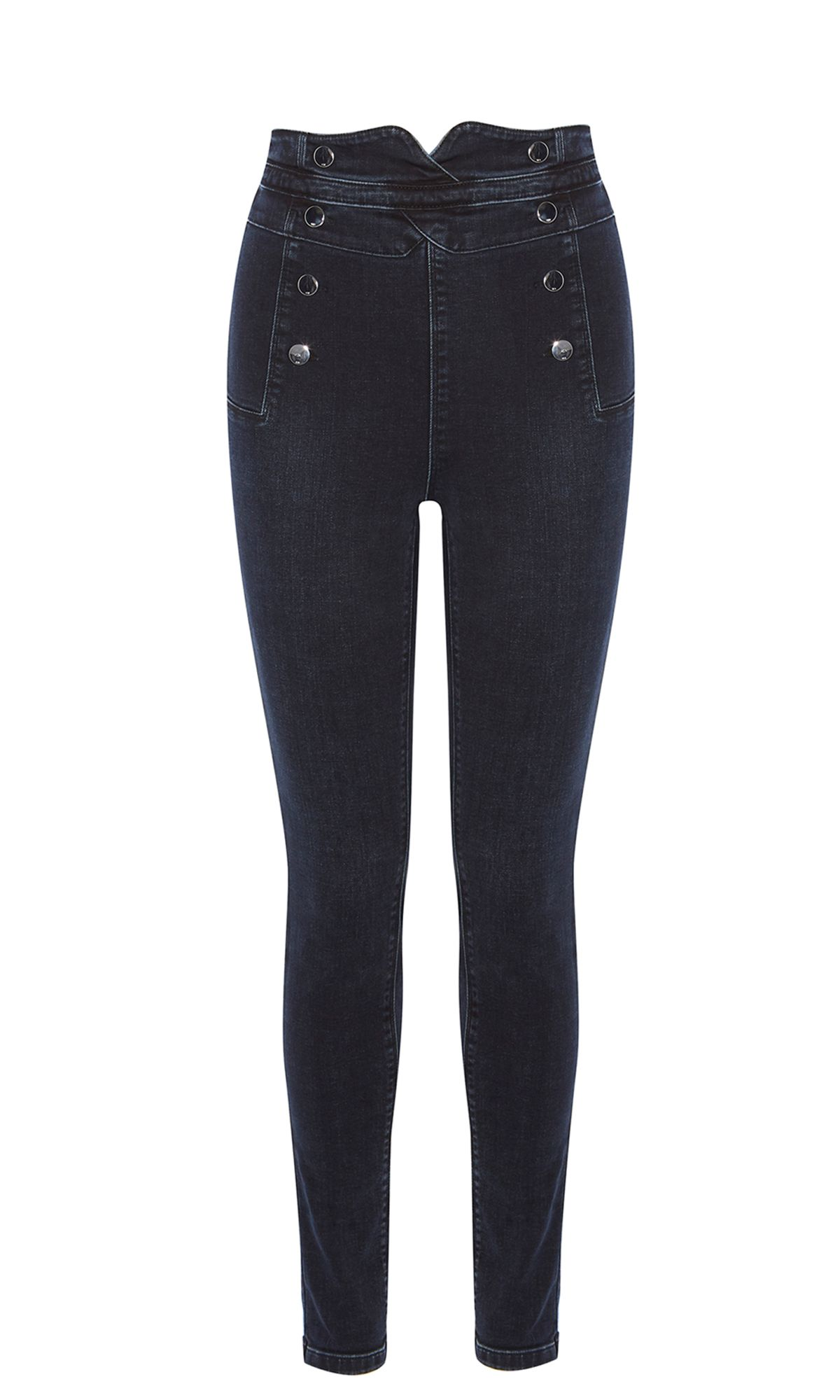 Karen Millen High-Waisted Skinny Jeans, Denim Indigo