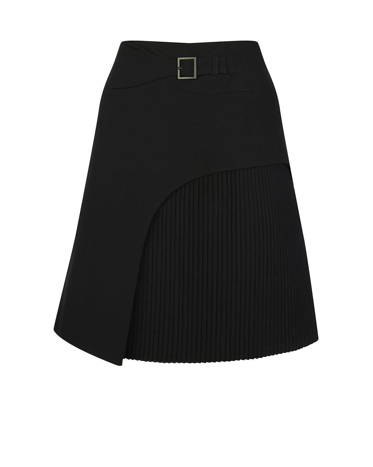 Karen Millen Pleated Kilt-Inspired Skirt, Black