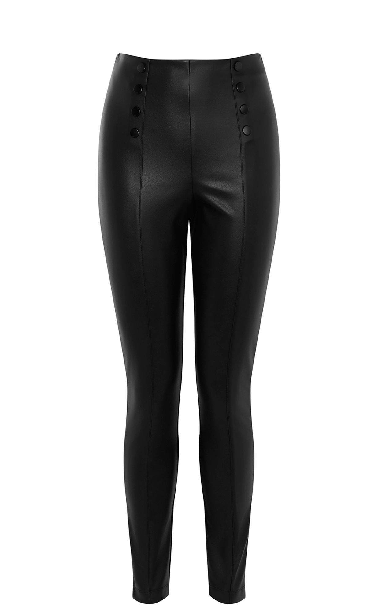Karen Millen Faux Leather Leggings, Black