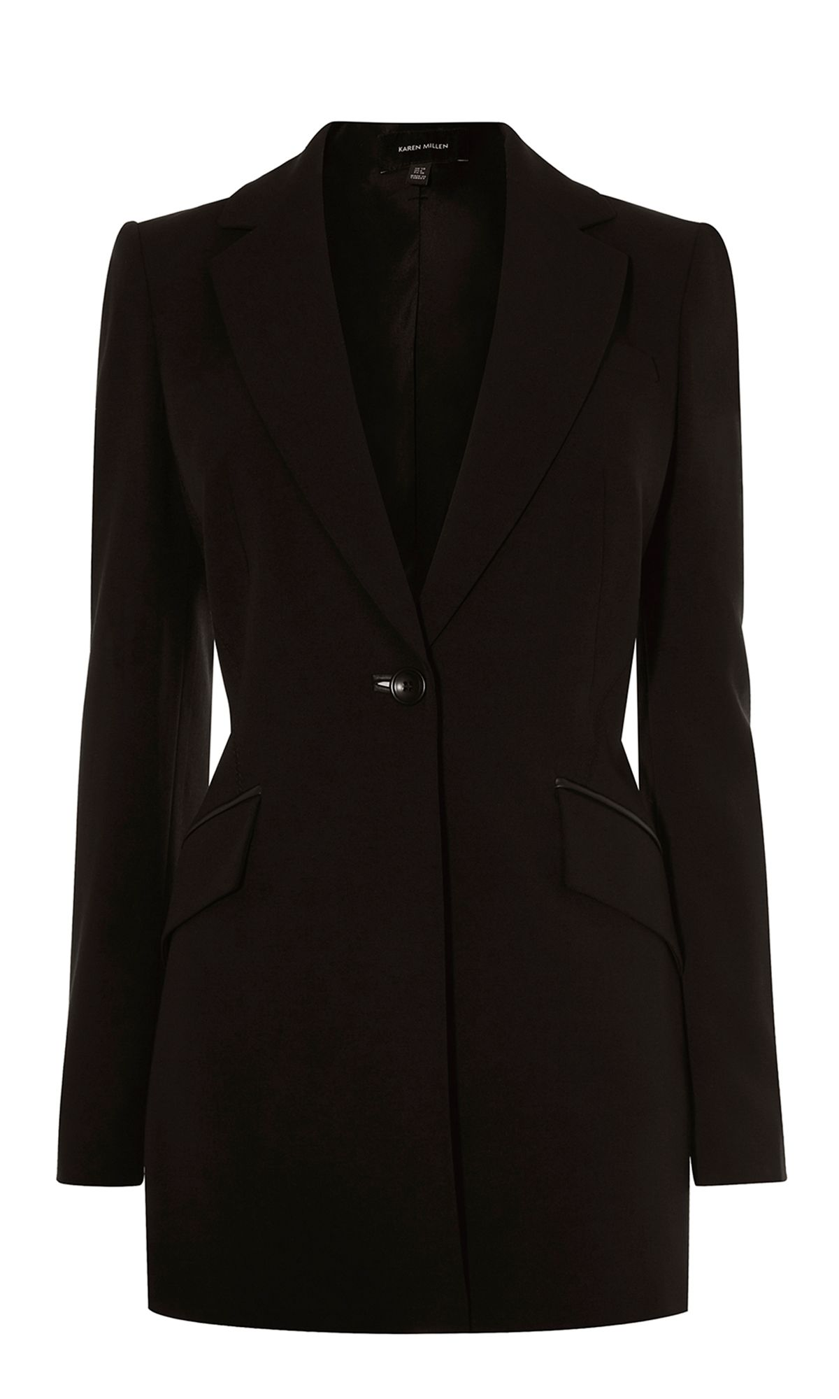 Karen Millen Longline Tailored Blazer, Black