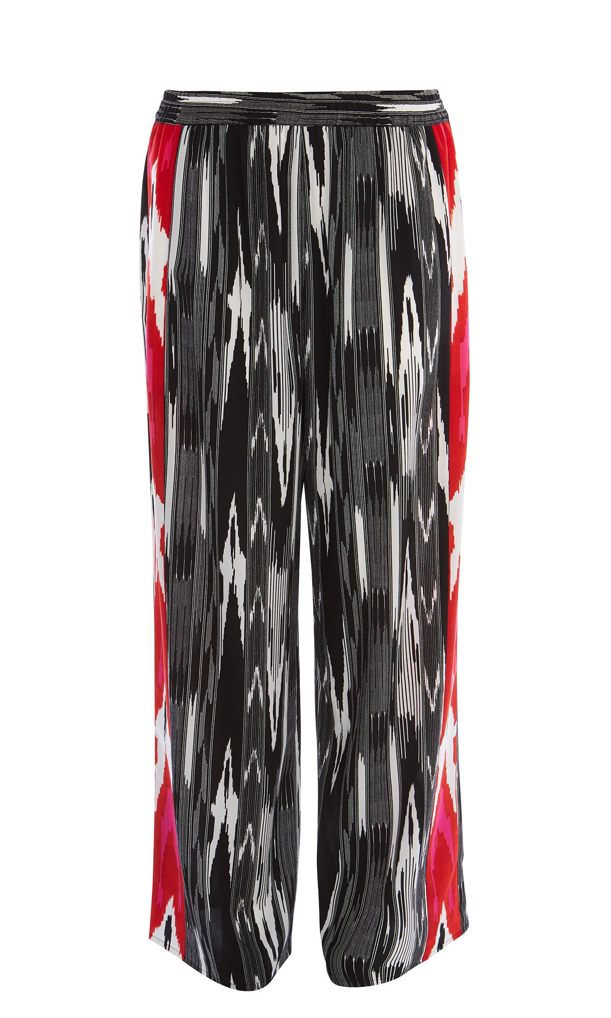 Karen Millen Abstract Print Trousers, Multi-Coloured