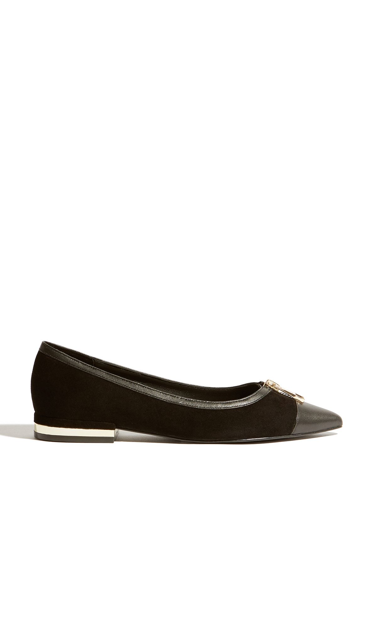 Click to view product details and reviews for Karen Millen Ballerina Pumps Black.