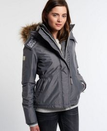 Superdry Hooded Fur Sherpa Wind Attacker