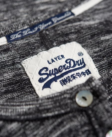 Superdry Super Sewn Twist Yarn Grandad Top