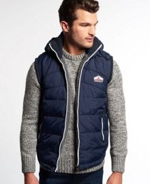 Retro hooded sherpa gilet