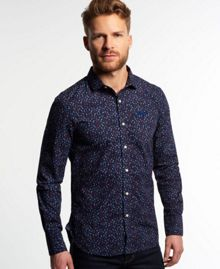 Superdry Long sleeved cut collar shirt