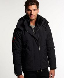 Quilted hooded polar windcheater