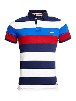 Duo Hoop Stripe Polo Shirt