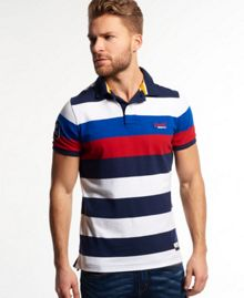 Superdry Duo Hoop Stripe Polo Shirt