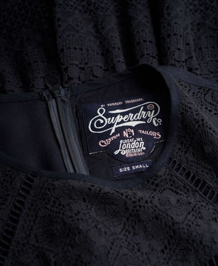 Superdry Lace Panel Skater Dress