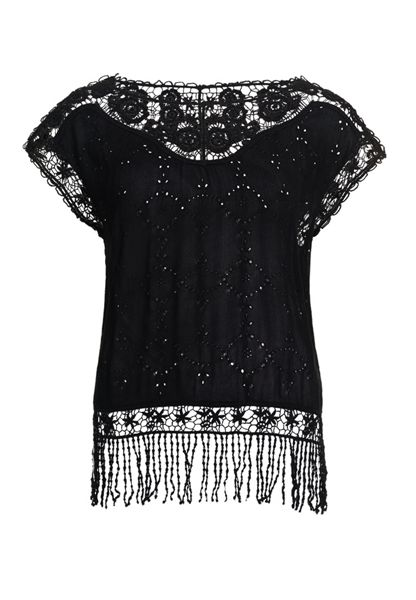 Superdry Lacy Schiffli Cape Top