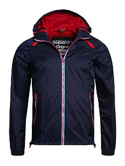 Dual Zip Through Tri Colour Cagoule
