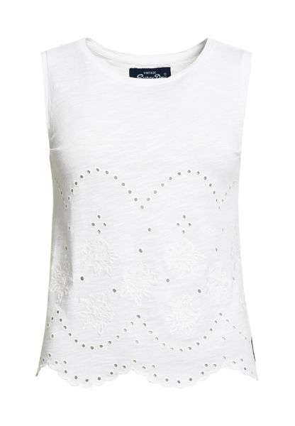 Superdry Cutwork Slub Shell Top