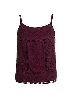 Folk Patch Cami Top