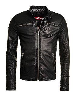 Real Hero Biker Leather Jacket